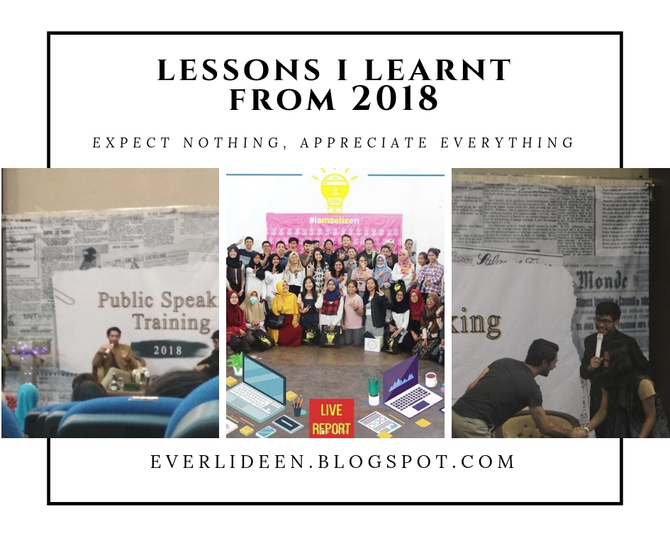 Lessons I learnt from my 2018