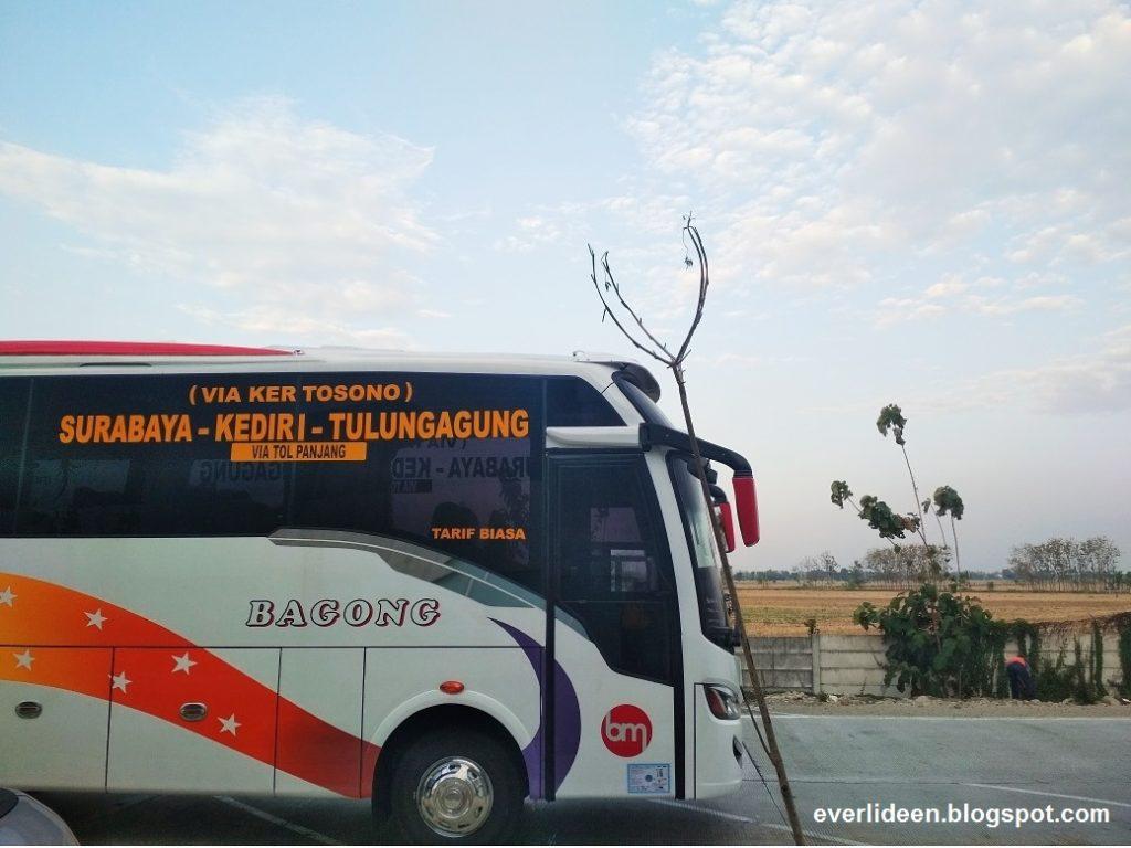 bis bagong rute baru surabay-kediri-tulungagung