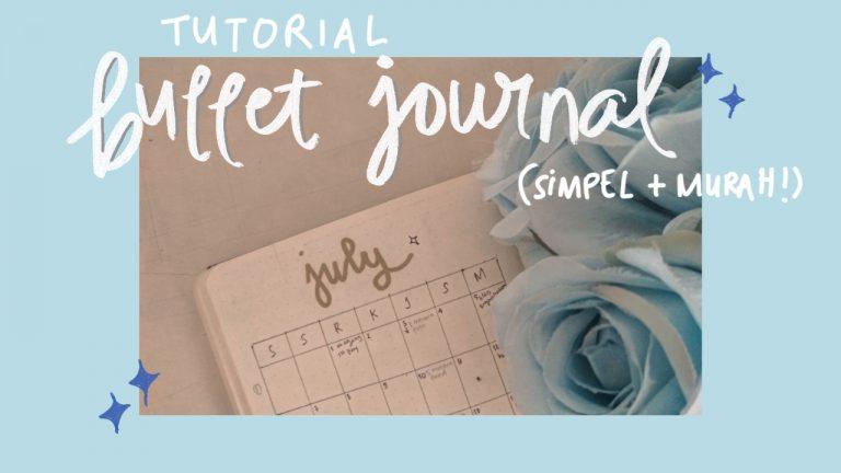 cara membuat bullet journal simpel murah minimalis