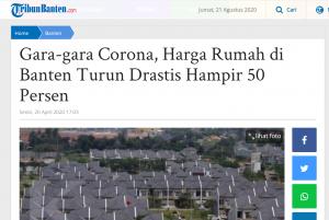 harga rumah turun corona