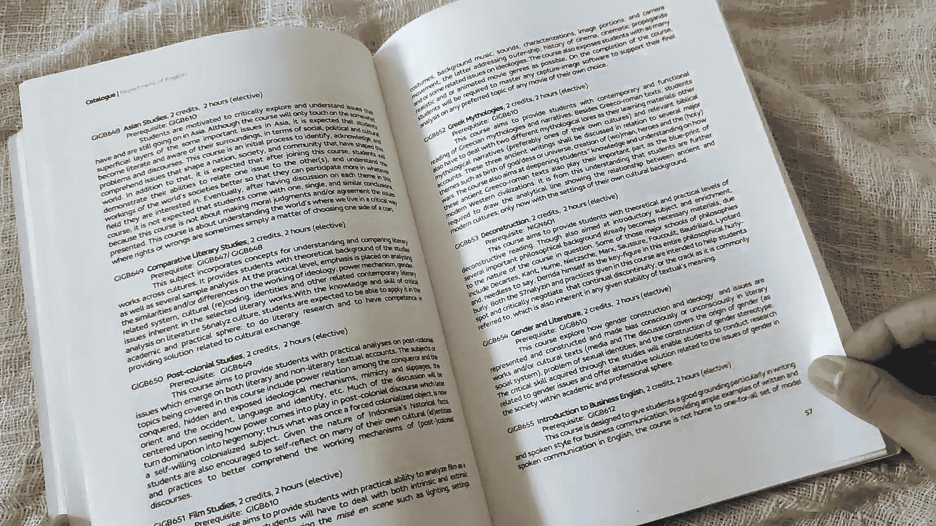 contoh katalog sastra inggris universitas negeri malang